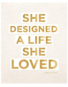 life she loved